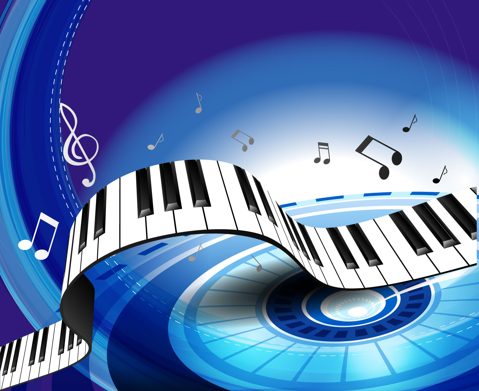 Gorgeous piano key background 04 vector Free Vector / 4Vector