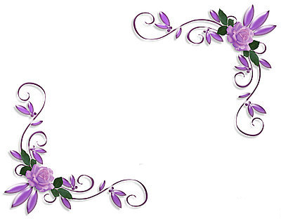 Page Border Designs For Projects With Flowers - Cliparts.co