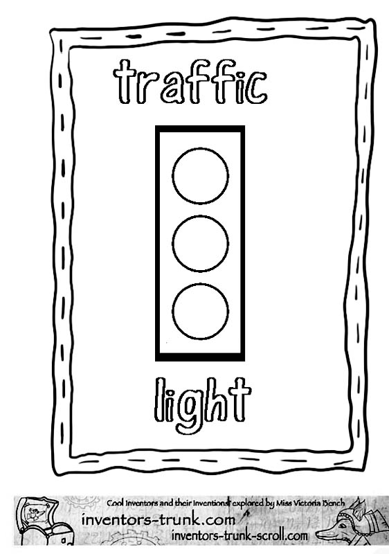 Printable traffic light worksheets just b cause for Traffic light coloring pages