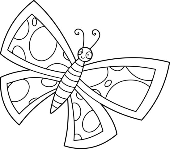 Line Drawing Butterfly : Butterfly line art cliparts