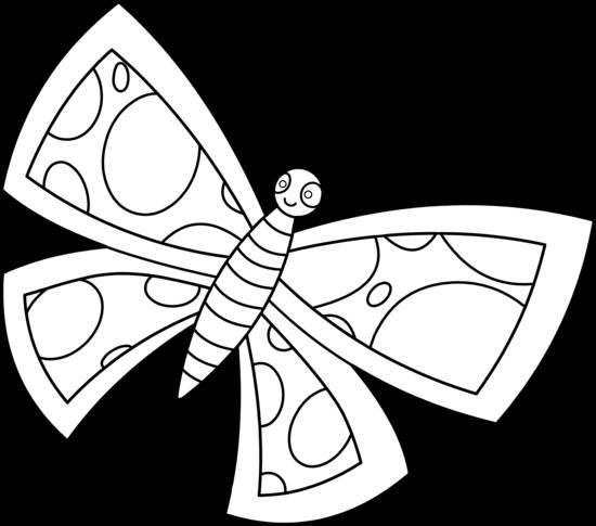 Line Art Of Butterfly : Butterfly line art cliparts