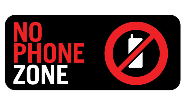 photograph about No Cellphone Sign Printable referred to as Printable No Cellular Cell phone Indication -