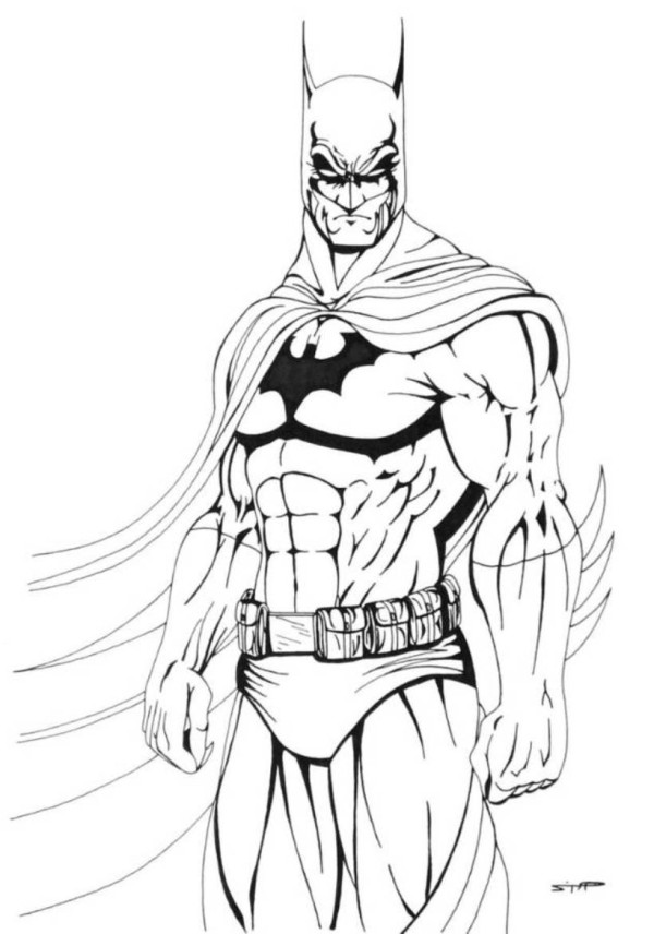 Pictures Of Batman To Color Cliparts Co Batman Coloring Pages