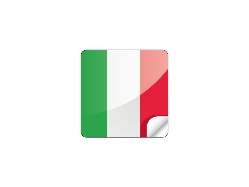 Patch 28x28mm Italy Flag - iCleer Europe