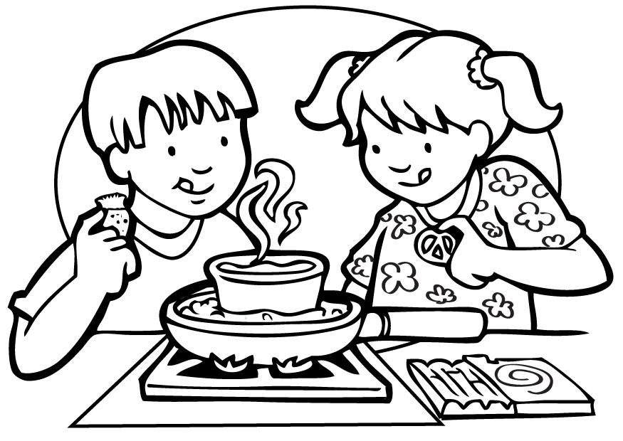 Cooking Class Coloring Pages