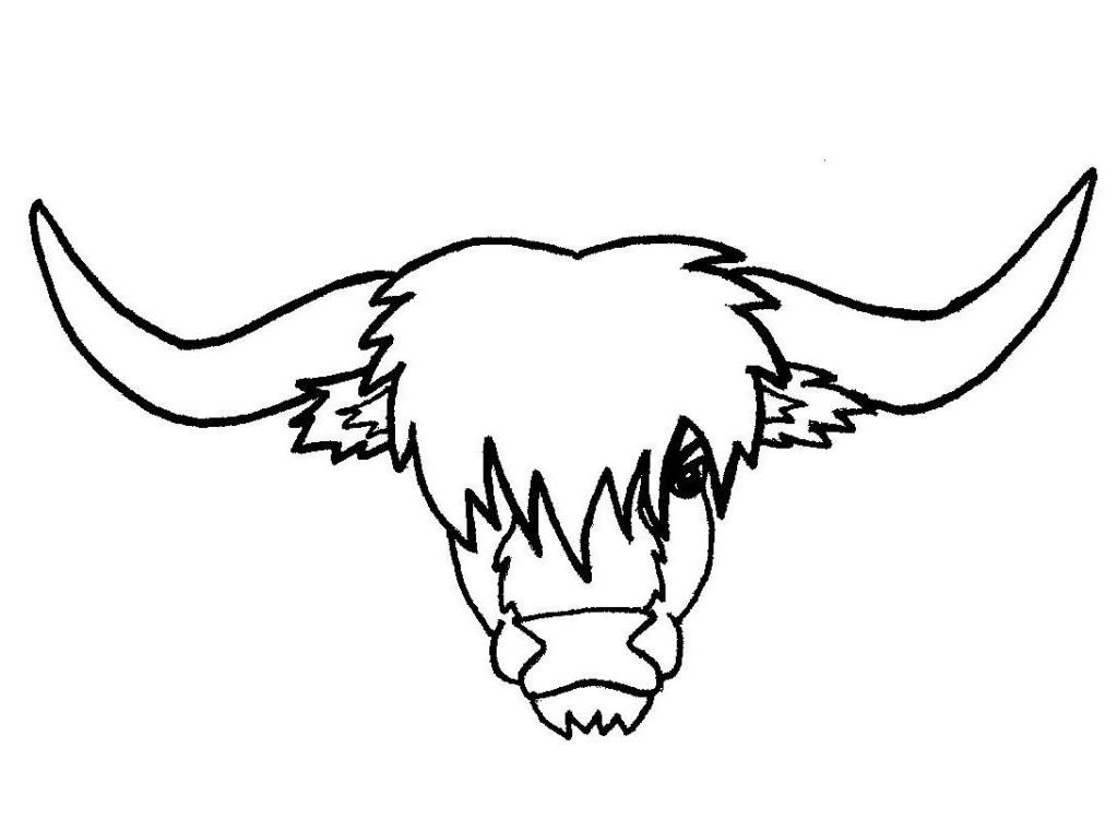 Line Drawing Cow Face : Cow line art cliparts