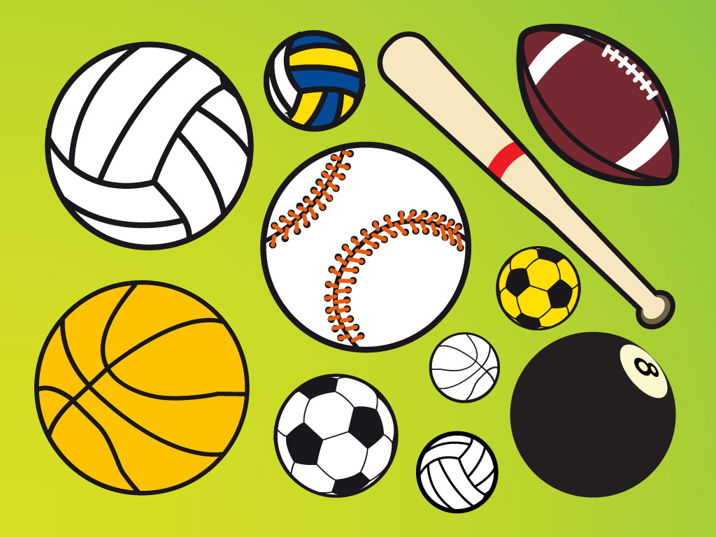 sports clipart balls ball cartoon sport clip vector vectors softball football cliparts library bat clipartbest clipground clipartmag attribution soccer forget