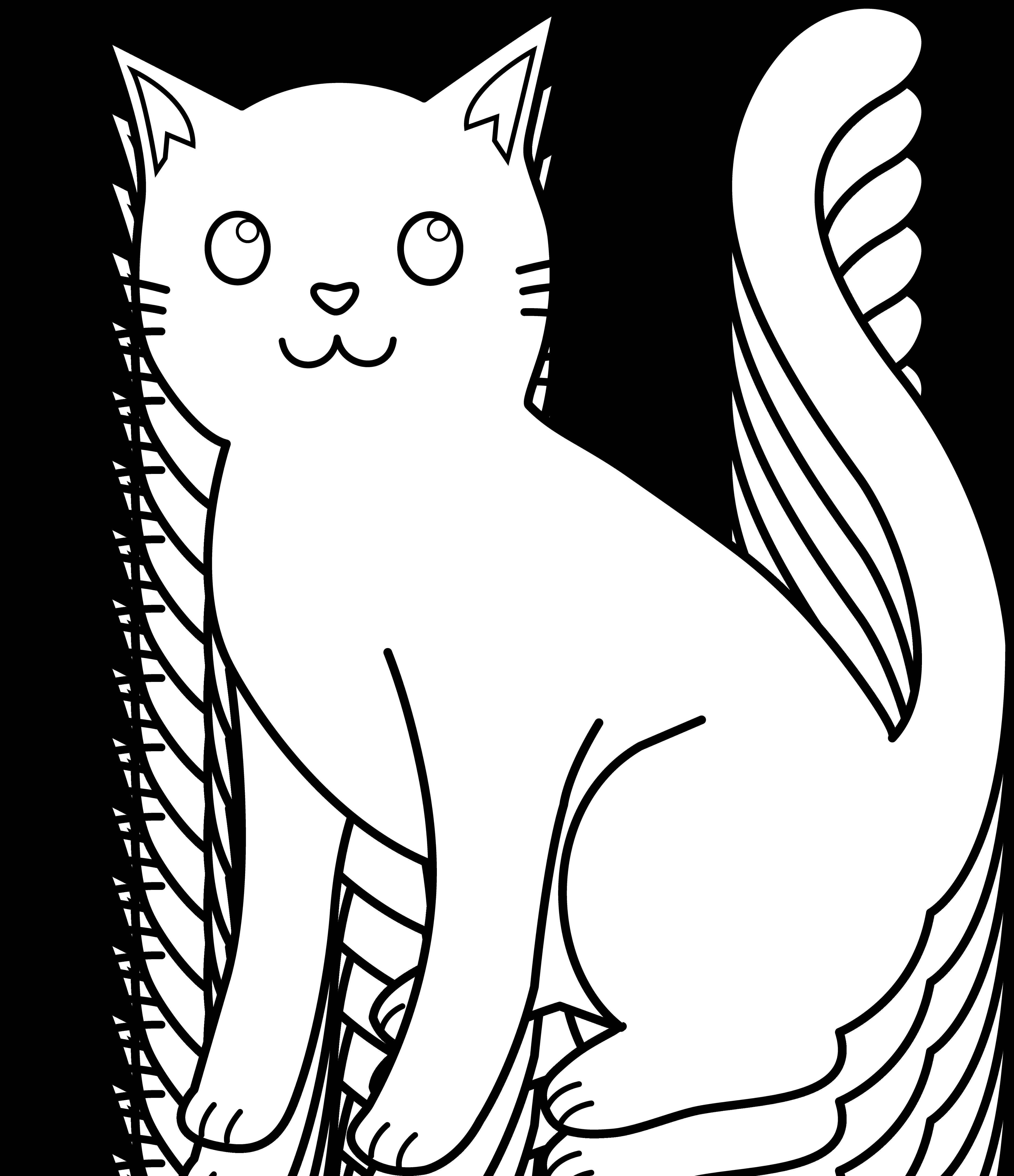 cat outline cliparts co