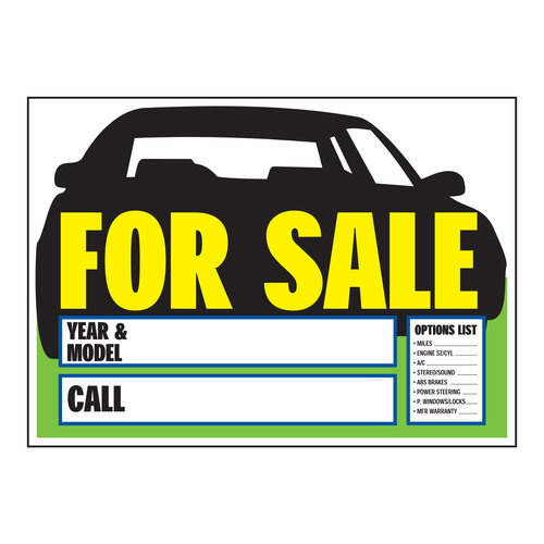 photo about Printable for Sale Signs for Cars referred to as Printable Car or truck For Sale Indication -