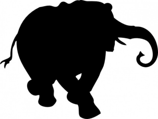 Elephant Silhouette clip art Vector | Free Download