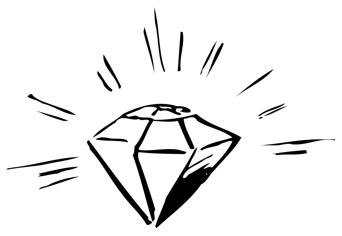 Blue Diamond Shape Cli...