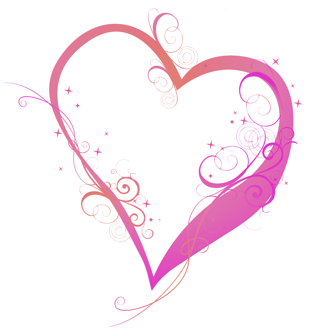 swirls and hearts clipartsco