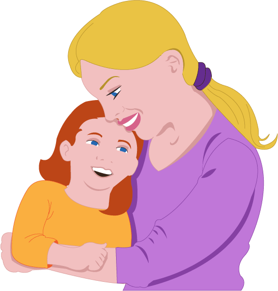 Mother And Daughter Clipart - Cliparts.co