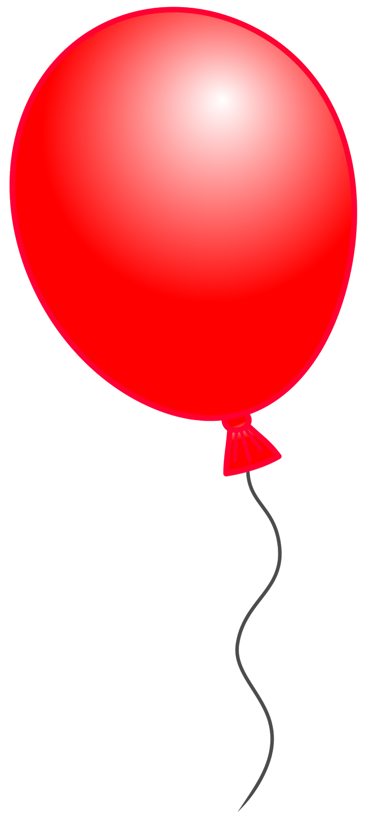 red balloon bouquet clipart