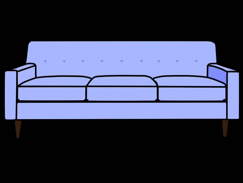 Clip art couch for Sofa zeichnung