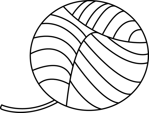 Black And White Ball Of Yarn Clip Art Black And White Ball Of
