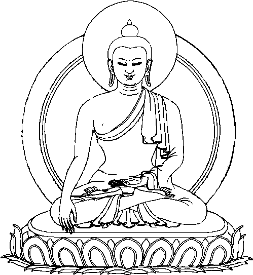 Simple Buddha Drawing - Cliparts.co