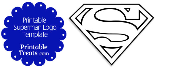 superman logo outline clipartsco