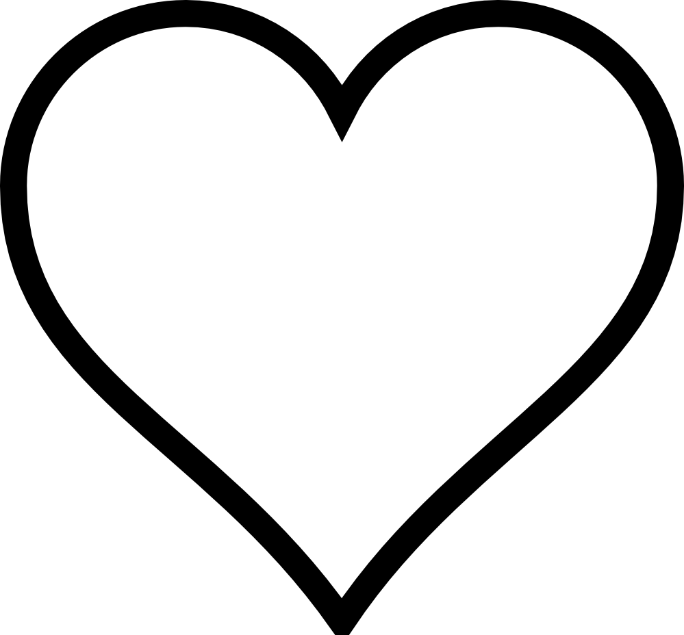 Clip Art Line Of Hearts : Heart clipart black and white free cliparts
