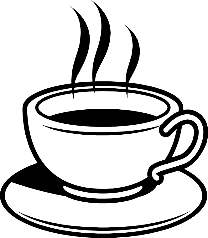tea cup clipart black and white - photo #29