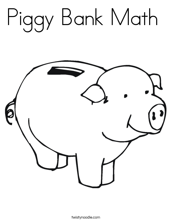 Line Drawing Piggy Bank : Pig outline cliparts