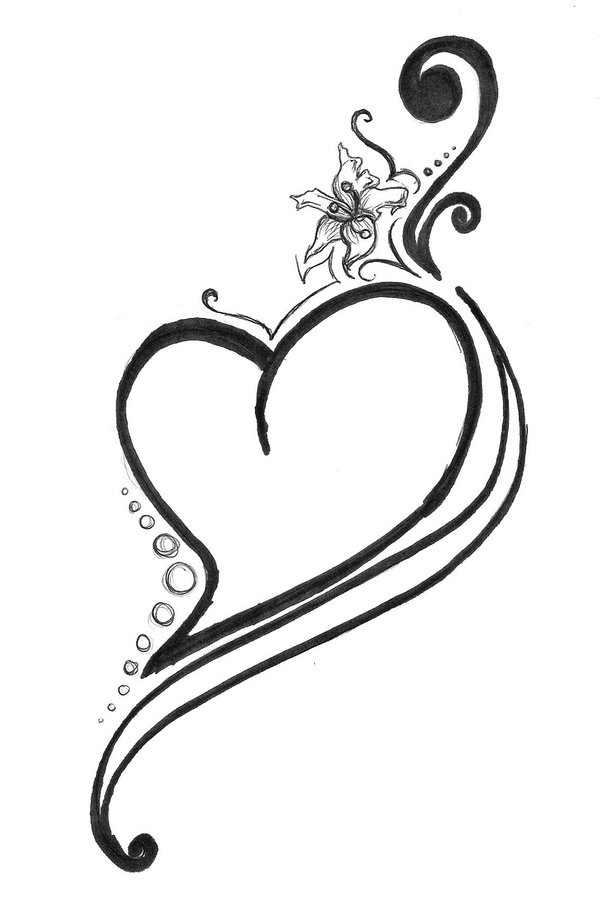 heart with banner tattoo cliparts co Free Vintage Clip Art Heart Small Heart Outline Clip Art