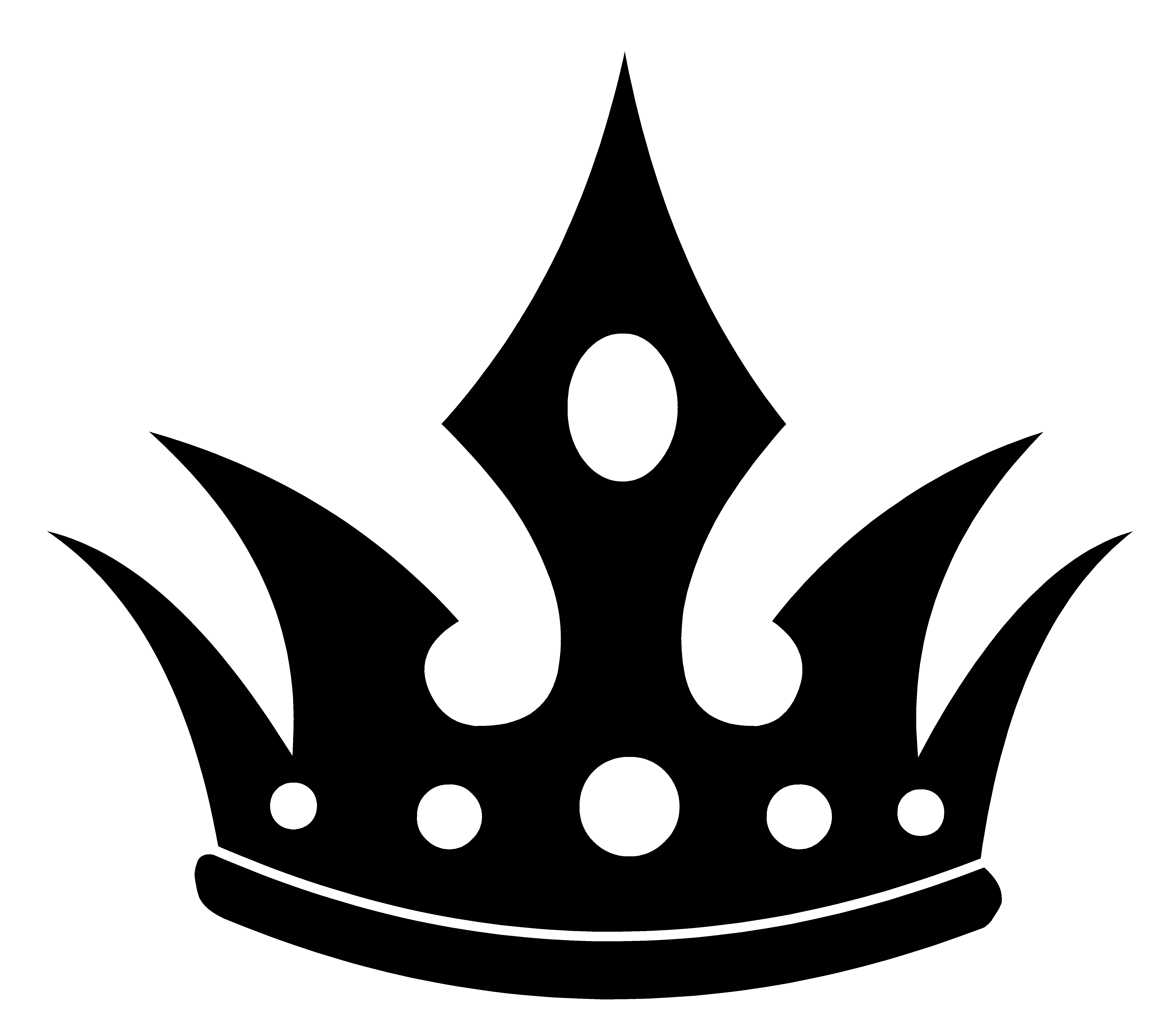 free black and white crown clipart - photo #4