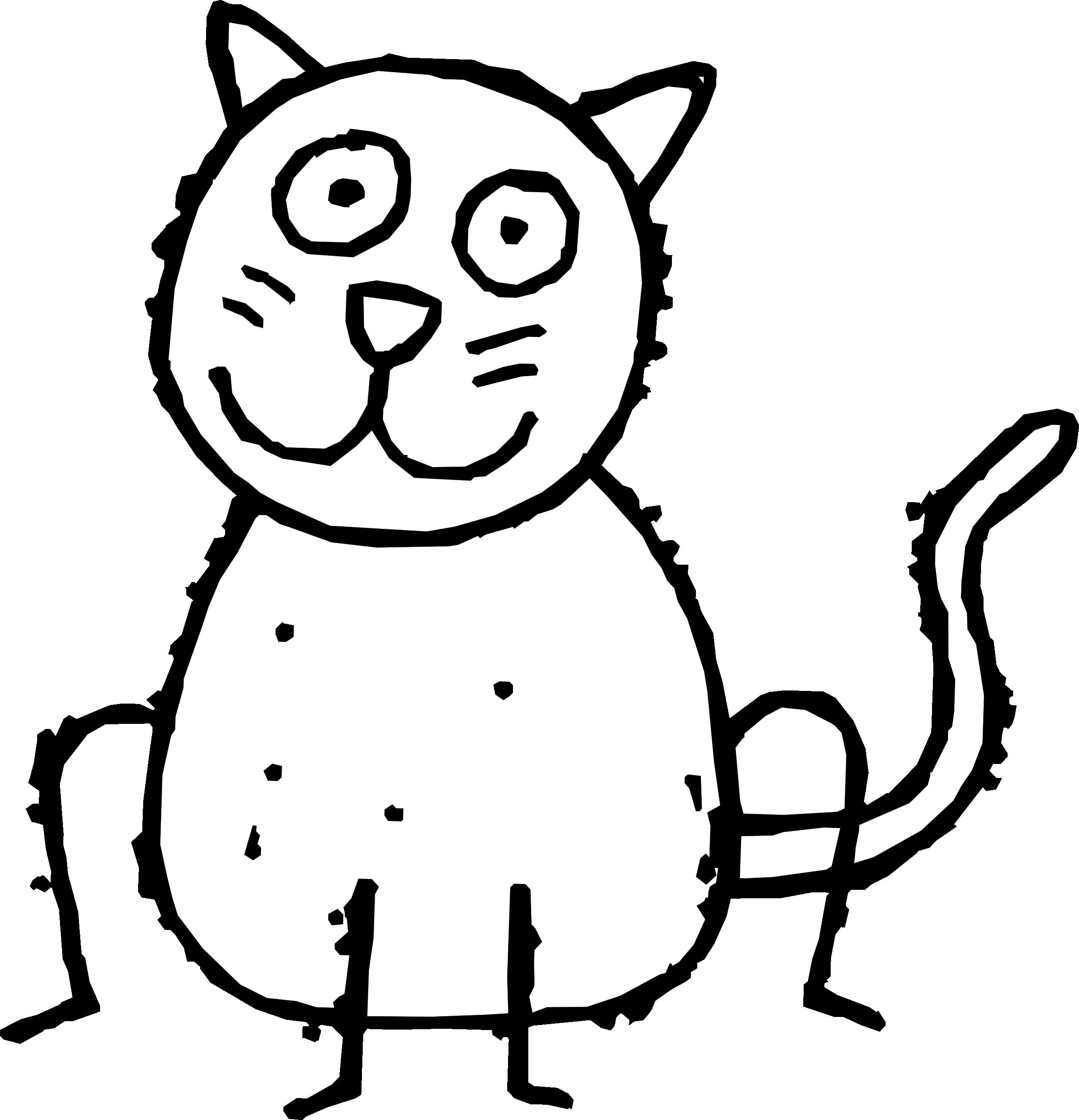 Cat Cartoon Drawing Black And White Cat Cartoon Drawings Clipart