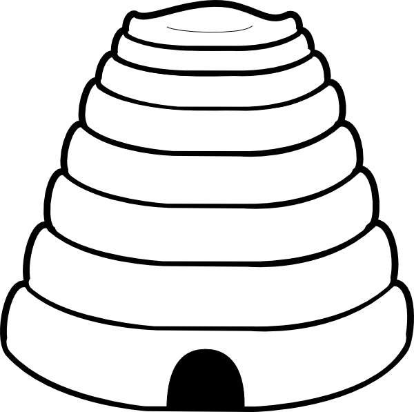 Plain Beehive clip art - vector clip art online, royalty free ...