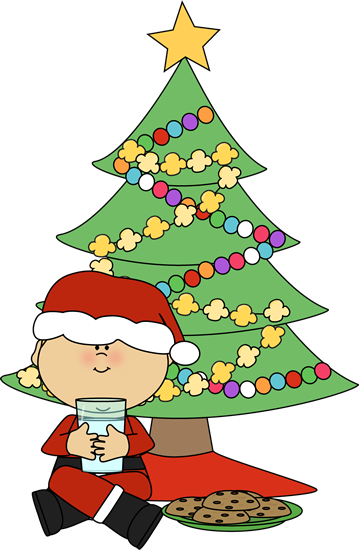 Plate of christmas cookie clip art
