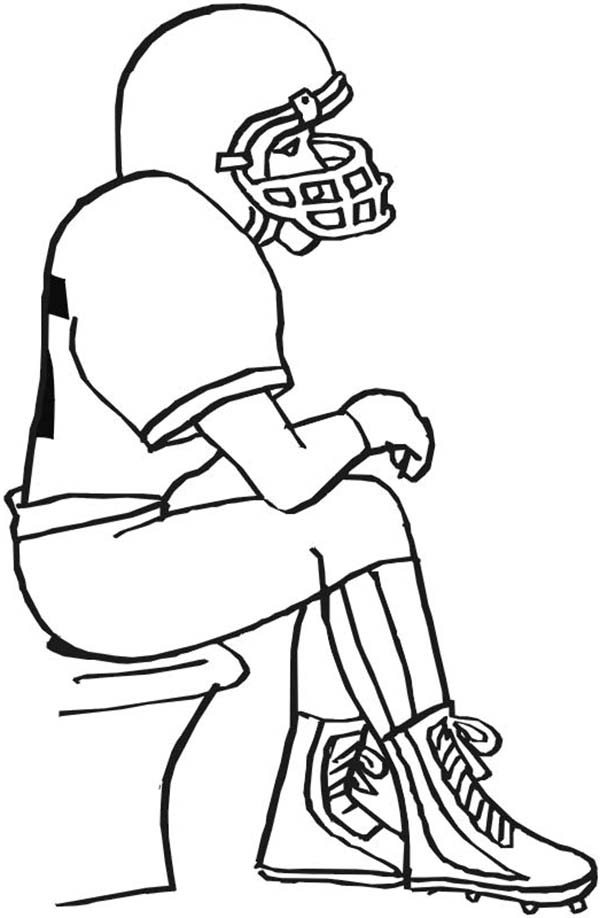 american football player coloring pages - photo#31