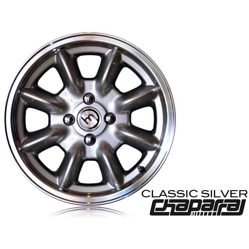 SILVER Chaparral Wheel & Tire Package w/ Your Choice Tires
