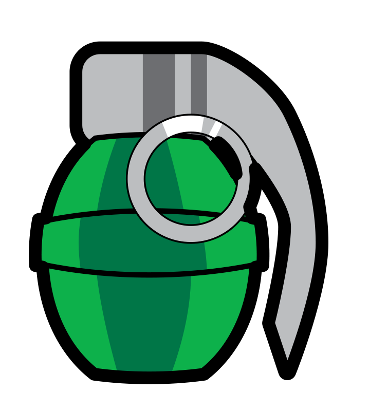 Free to Use & Public Domain Grenade Clip Art