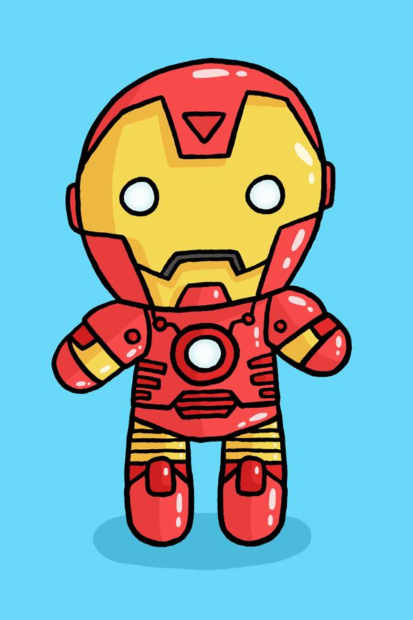 Ironman Cartoon Drawing | Lol- - Cliparts.co