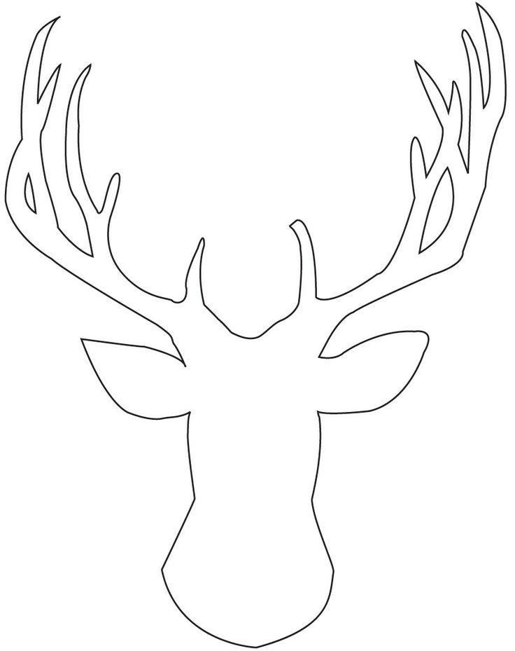 Reindeer Head Template Printable | Christmas | Pinterest - Cliparts.co