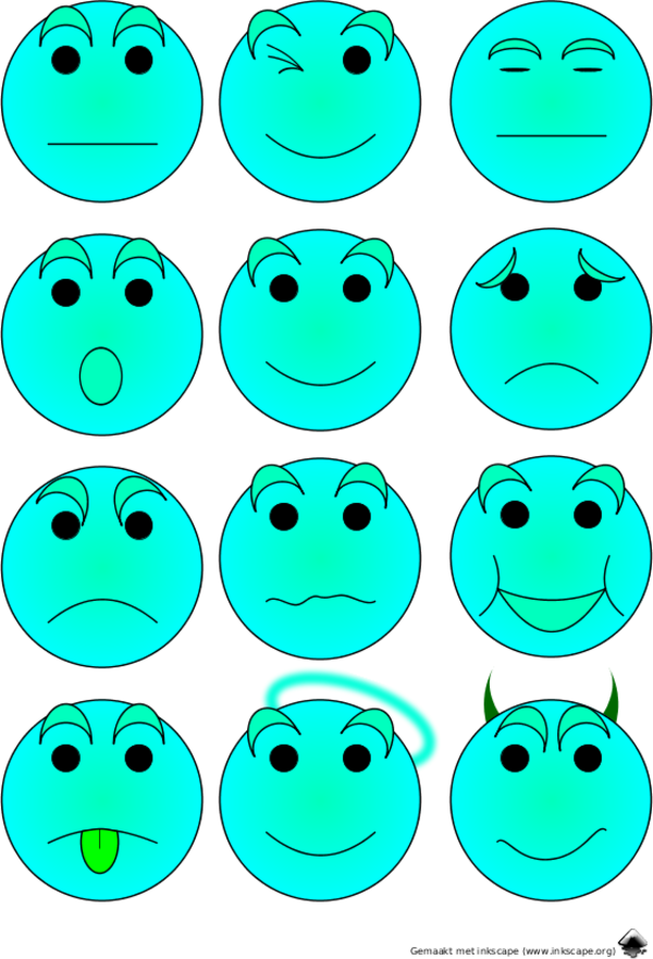 Emotion Icons Emoticons - vector Clip Art