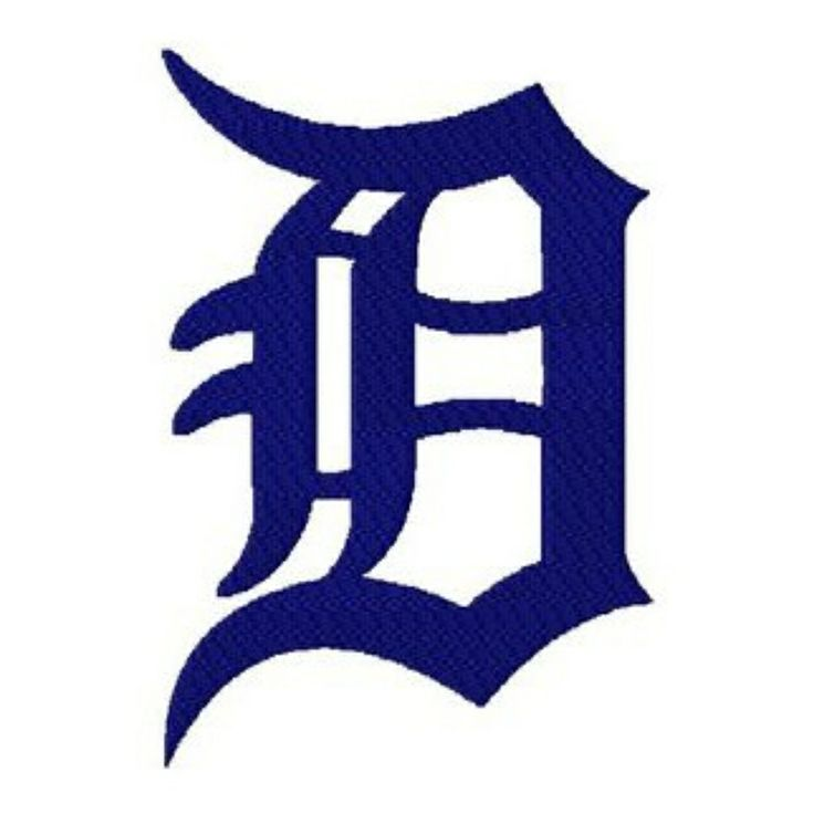Detroit Michigan Tigers Baseball Old English D Logo 8 Different Sizes…