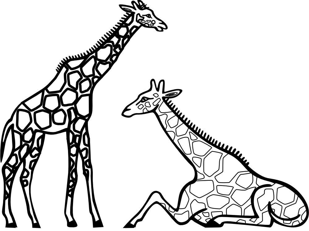 Giraffe Clip Art Black And White