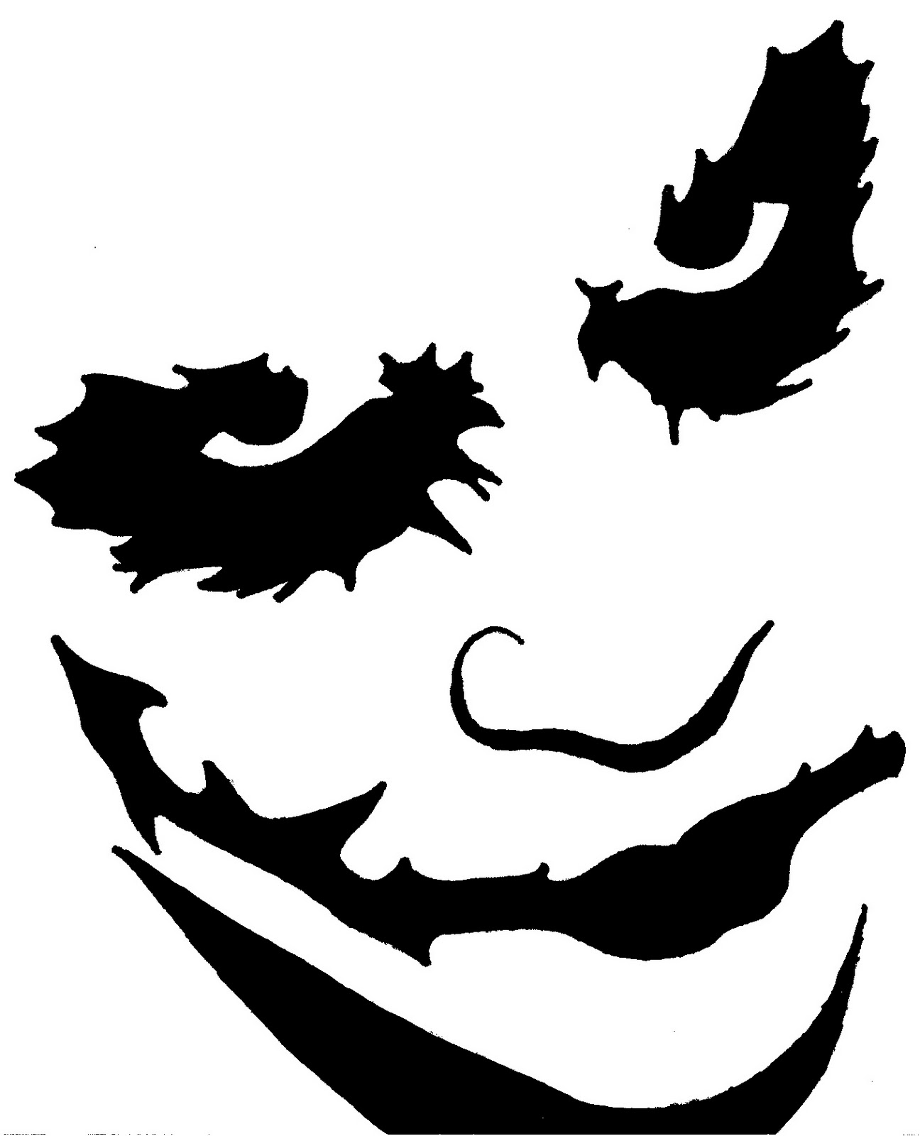 Free batman pumpkin stencil cliparts