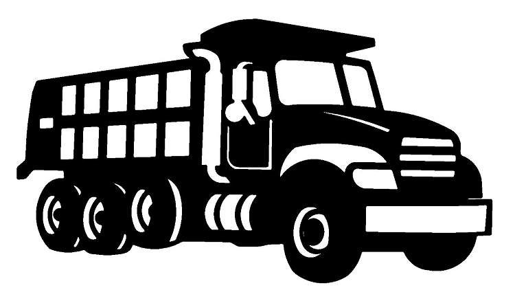 Dump Truck Clipart Black And White | Clipart Panda - Free Clipart ...