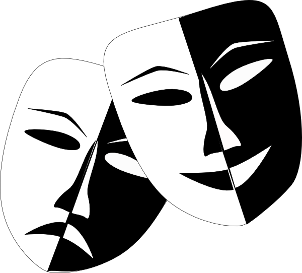 Theatre Masks clip art - vector clip art online, royalty free ...