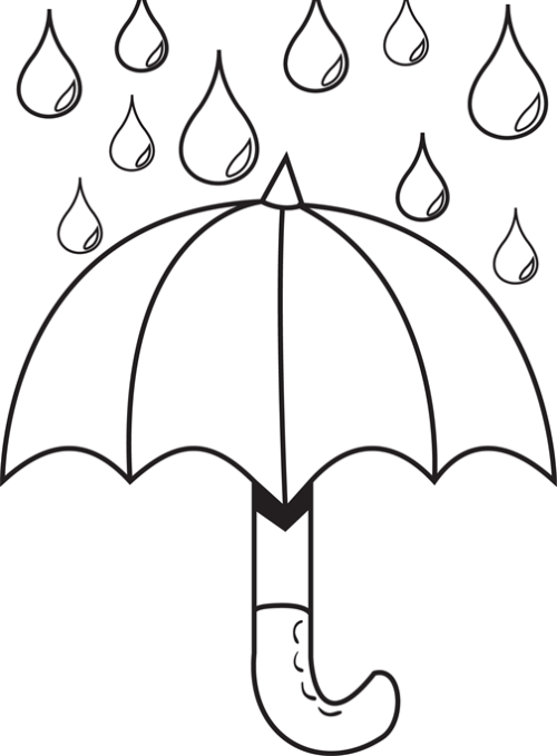 rain drop coloring pages - photo#36