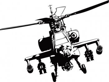 apache helicopter vector adobe illustrator - Free Vector Art & Graphic