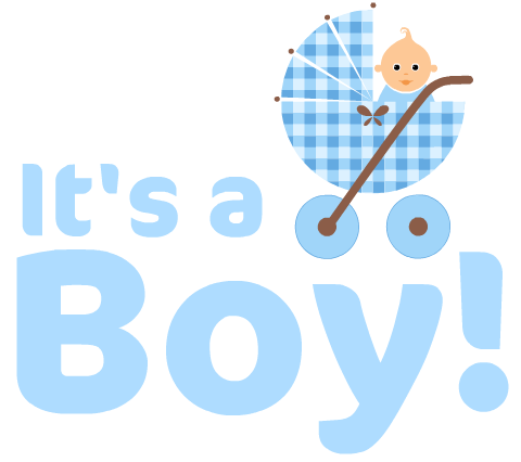 Boy Baby Shower Clipart #1