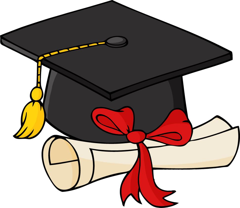 graduation cap and diploma clipart 1