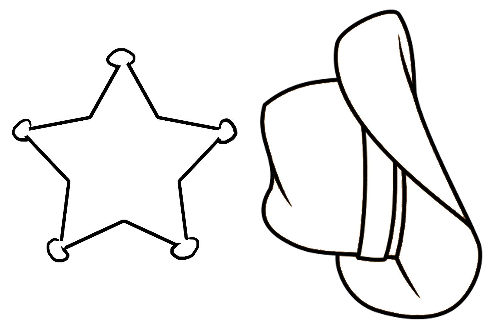 Cowboy Hat Stencil Cliparts Co Cowboys Coloring Pages To Print Printable