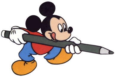 Disney's Mickey Mouse pencil Clipart --> Disney-