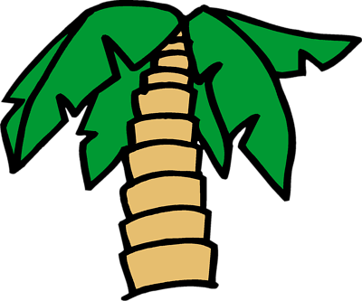 Pix For > Cartoon Palm Tree Png