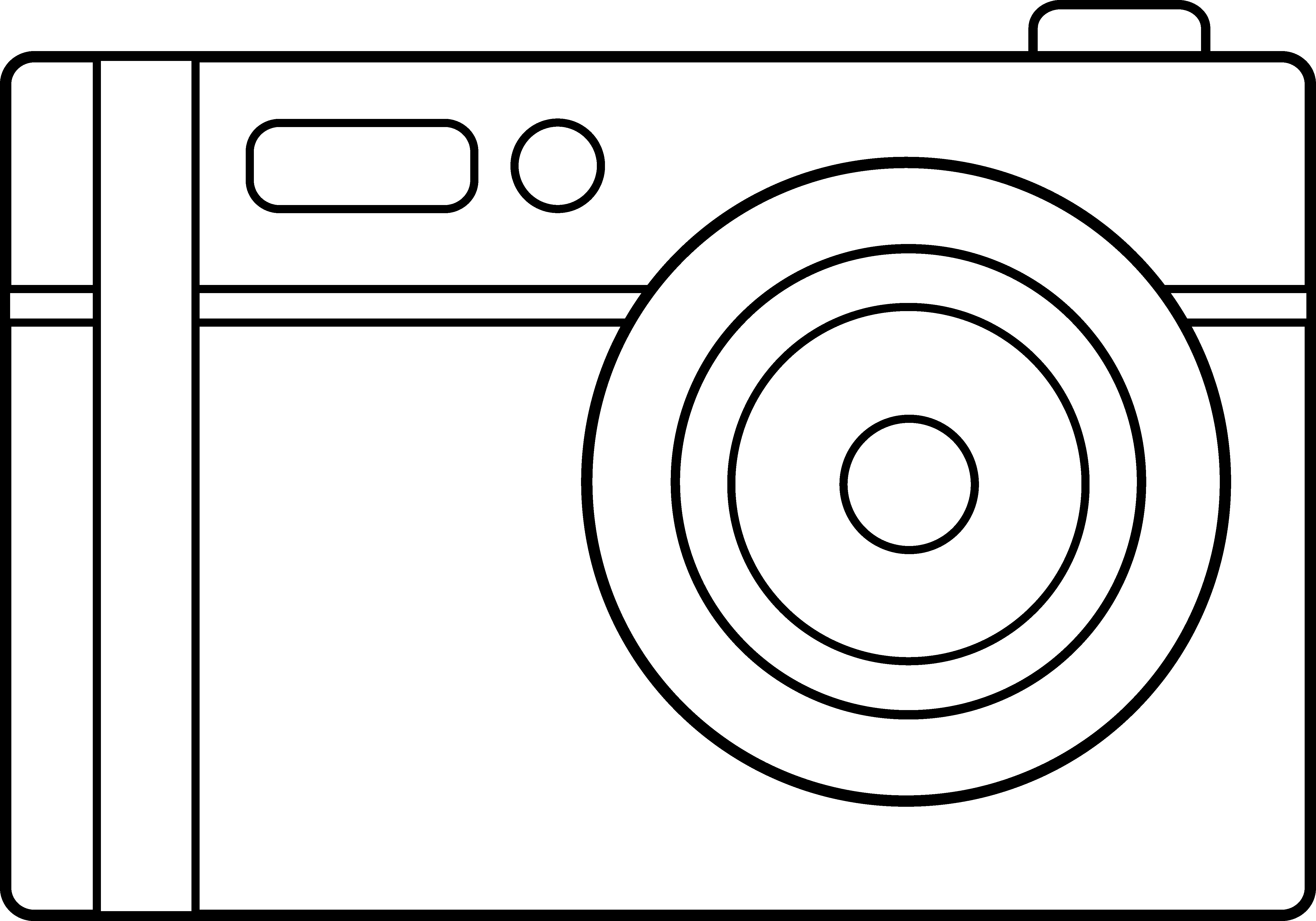 Camera Line Drawing Tattoo : Camera line art cliparts