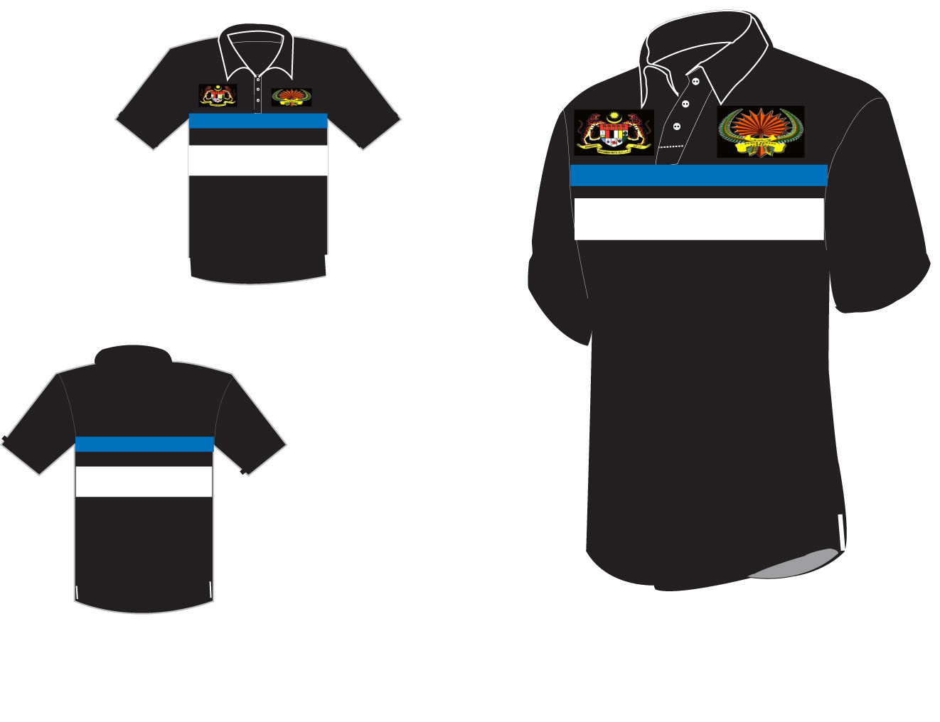 collared shirt template clipartsco